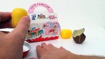 Kinder Surprise Eggs Unboxing Winx Club Familiar Pack - Kidstvsongs