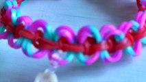 Pulsera de gomas arya en рогатке   Bracelet Rainbow Loom