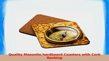 Rikki Knight Vintage Compass Lies on Ancient World Map Design Square Beer Coasters a2b48bda