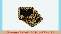 3dRose cst203942 Punk Rockabilly Cheetah Animal Print Heart Soft Coasters Black Set of 8 82edd358