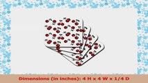 Lee Hiller Designs RAB Rockabilly  Deep Red Cherries on white  set of 8 Ceramic Tile 025d2582