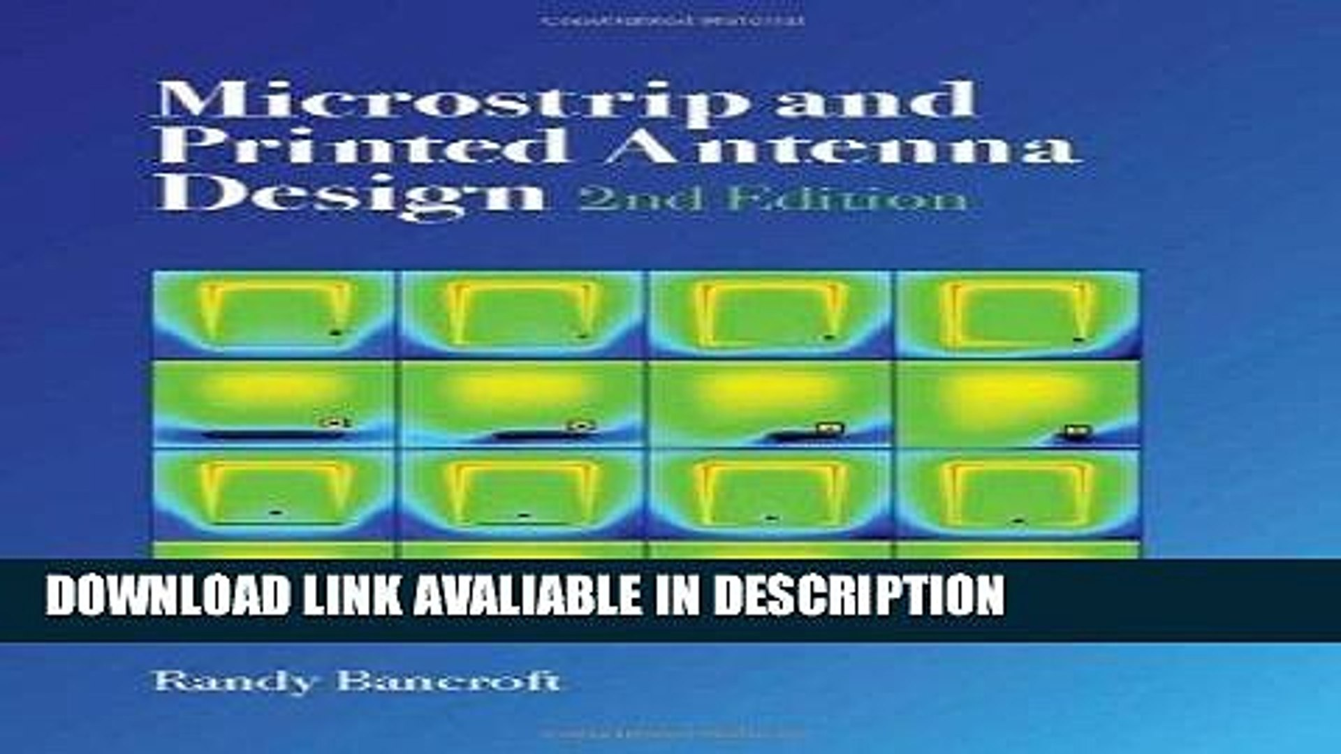 DOWNLOAD EBOOK Microstrip and Printed Antenna Design (Electromagnetics and  Radar) BOOK ONLINE