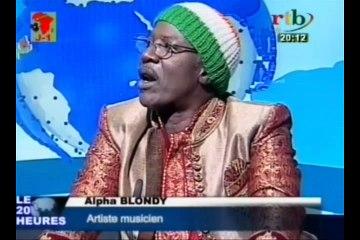 Alpha Blondy star africaine du Reggae invité du plateau du Journal Télévisé de 20h