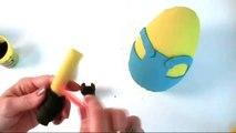 El GIGANTE de MINION Play-Doh Huevo Sorpresa de Tutorial Hacer tu propio: Cómo Hacer un gran Play-Doh Mi