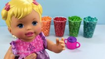 Learn Colors Baby Doll Bath Playing Time With Big Colors Jelly Beans Kids Videos for Toddl