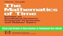 eBook Free The Mathematics of Time: Essays on Dynamical Systems, Economic Processes, and Related