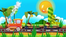 The Learning Trains Cartoon - TRAIN FOR KIDS - Cartoons about Trains & Cars for children