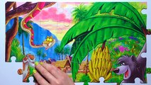 Puzzle Games MOWGLI Clementoni Rompecabezas The Jungle Book Baloo, Akela, Bagheera, Kaa, Kids Toys