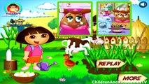 Baby Hazel Game Movie - Baby Hazel Farm Animals - Dora The Explorer