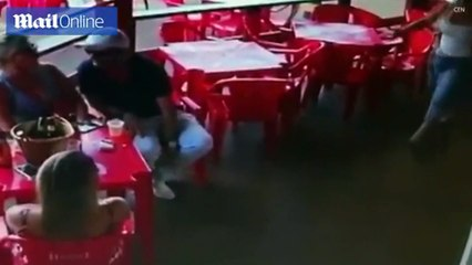 Watch How Wife Beaten Her Husband's Girlfriend In a restaurant . Funny But Strange