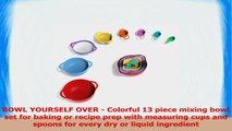 Vremi 13 Piece Mixing Bowl Set  Plastic Mixing Bowls with Large Mixing Bowl  Nested 43e7da51