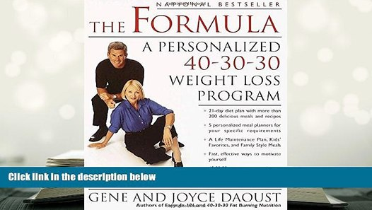 The Formula A Personalized 40-30-30 Weight-Loss Program