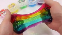 How To Make Colors Jelly Slime Clay DIY Rainbow Slime Syringer Toy Learn Colors