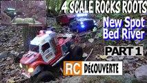 Rc Scale Crawlers sur Rochers Racines Lit de Rivière Barbechat France PART 1