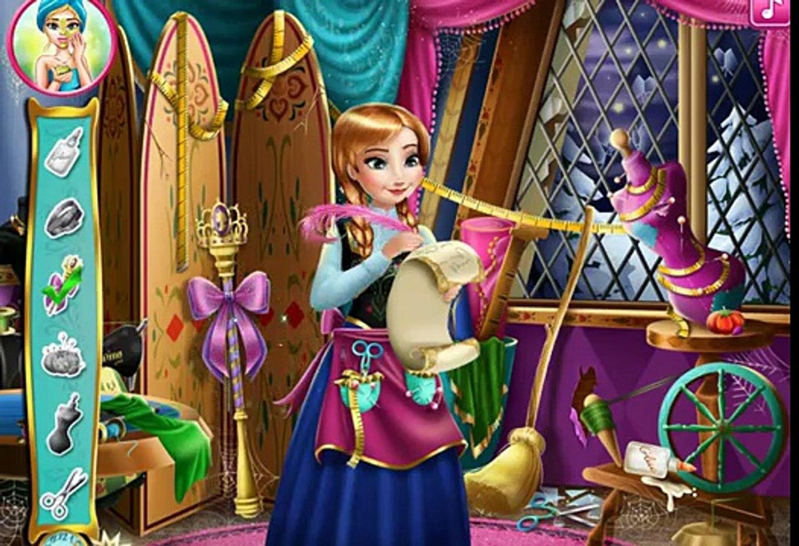 Эльза Frozen Игры—Анна Дизайнер платья Эльзы—Онлайн Видео Игры Для Детей Мультфильм new