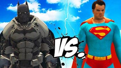 SUPERMAN VS BATMAN (XE Batsuit) - EPIC BATTLE