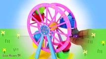 ☀ Peppa Pig Big Wheel Surprise Eggs ☀ Peppa Pig Giant Wheel Surprise Eggs �