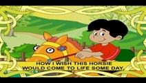 De oro Rocking Horse Niños Canciones y Rimas En inglés Con Letras de canciones