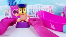 Paw Patrol Baby Doll Bath Paint Bath Time Potty Training Bedtime Fun Learn Colors Pretend