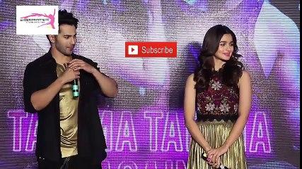 Alia Bhatt Eat Lipstick-Very Funny-Vrun Dhawan-Tamma Tamma Again Song Launch