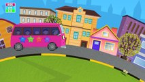 #The Wheels On The Bus Go Round & Round Nursery Rhymes Songs | #Spiderman, Hulk, Groot, Su