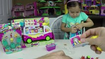 Shopkins Temporada 3 Cucharadas Camión De Helados Playset Feria De Comida Van De Coche Exclusivo Juguete Divertido Vídeo