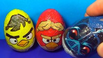 ANGRY BIRDS STAR WARS Surprise Eggs Unboxing 3 Eggs Surprise Angry Birds Star Wars For Kids BABY