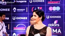 Zarine Khan in transparent dress at the red carpet of the GiMA Awards 2016