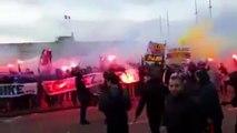 quand Lucas et Marquinhos danse avec les ultras avant le CLASSICO Om PSG