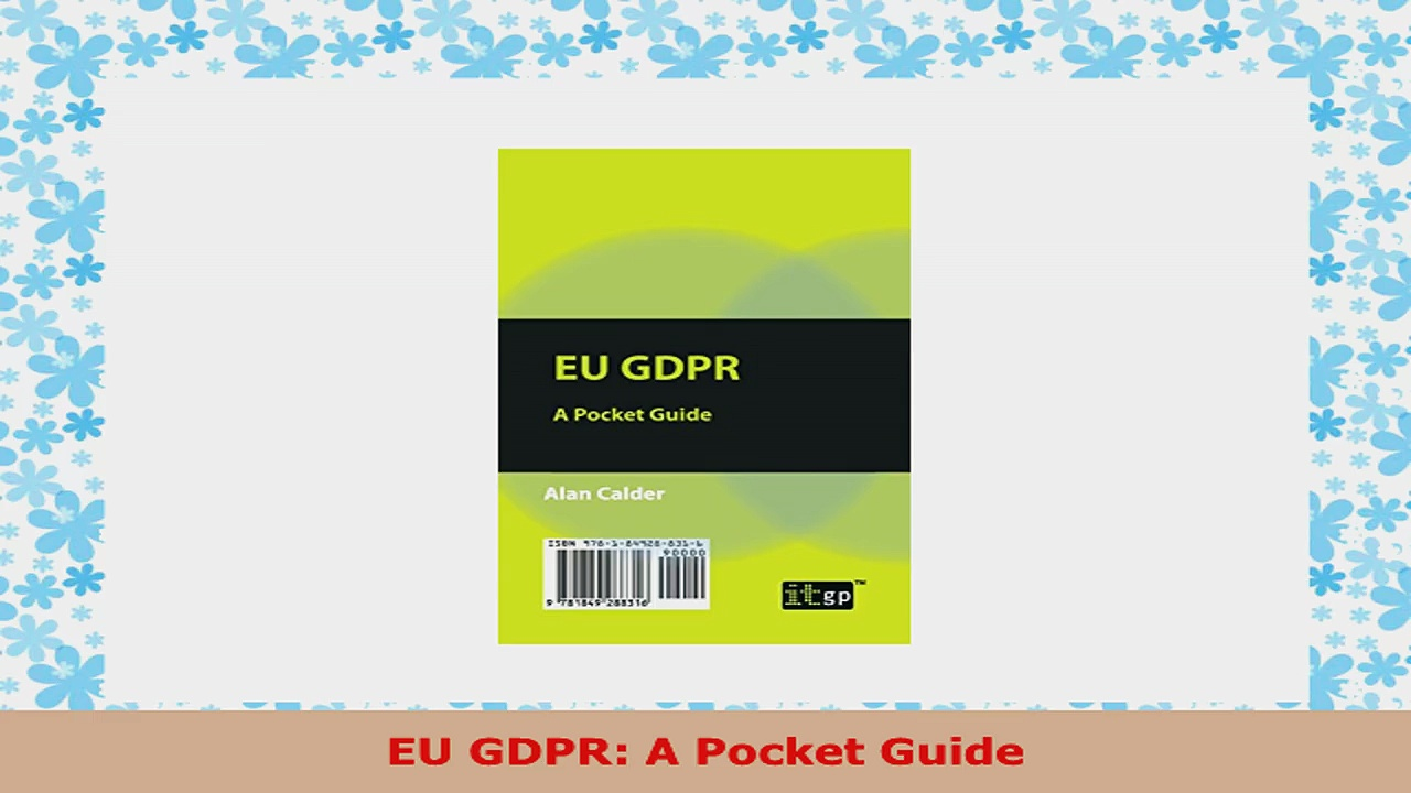 READ ONLINE  EU GDPR A Pocket Guide