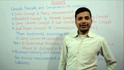 Concepts, Principal and convention of Accounting |Wahthu Hindi video  tutorial| part 3