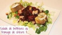 Salade de bettrave au fromage au chèvre
