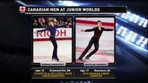2015 Roman Sadovsky Junior Worlds LP Warm-Up Clip (Canadian Coverage) 720p, 59 fps