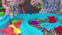 STEP 2 SAND WATER TABLE + SURPRISE TOYS ORBEEZ Kinetic Sand MLP SheriffCallie DocMcStuffin