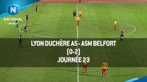 J23 : Lyon Duchère AS - ASM Belfort (0-2), le résumé