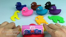 Jugar y Aprender los Colores con Plastilina Patos de Animales Moldes Creativas y Divertidas para los Niños