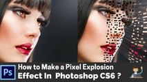 Adobe Photoshop Tutorial: How to Make a Pixel Explosion Effect in Photoshop CS6