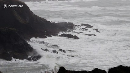 Storm Ewan hits the Irish coast