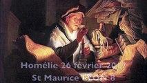 Homélie en l'Eglise St Maurice le 26 février 2917