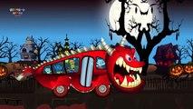 Хэллоуин Песни Колеса На Автобусе | Хэллоуин Для Детей Видео | Страшные Видео Автобус Рифмы Для Детей