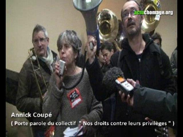 Action du Collectif Nos Droits contre leurs Privilèges