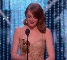 Emma Stone Oscars Speech for Best Actress Win _ Oscars 2017