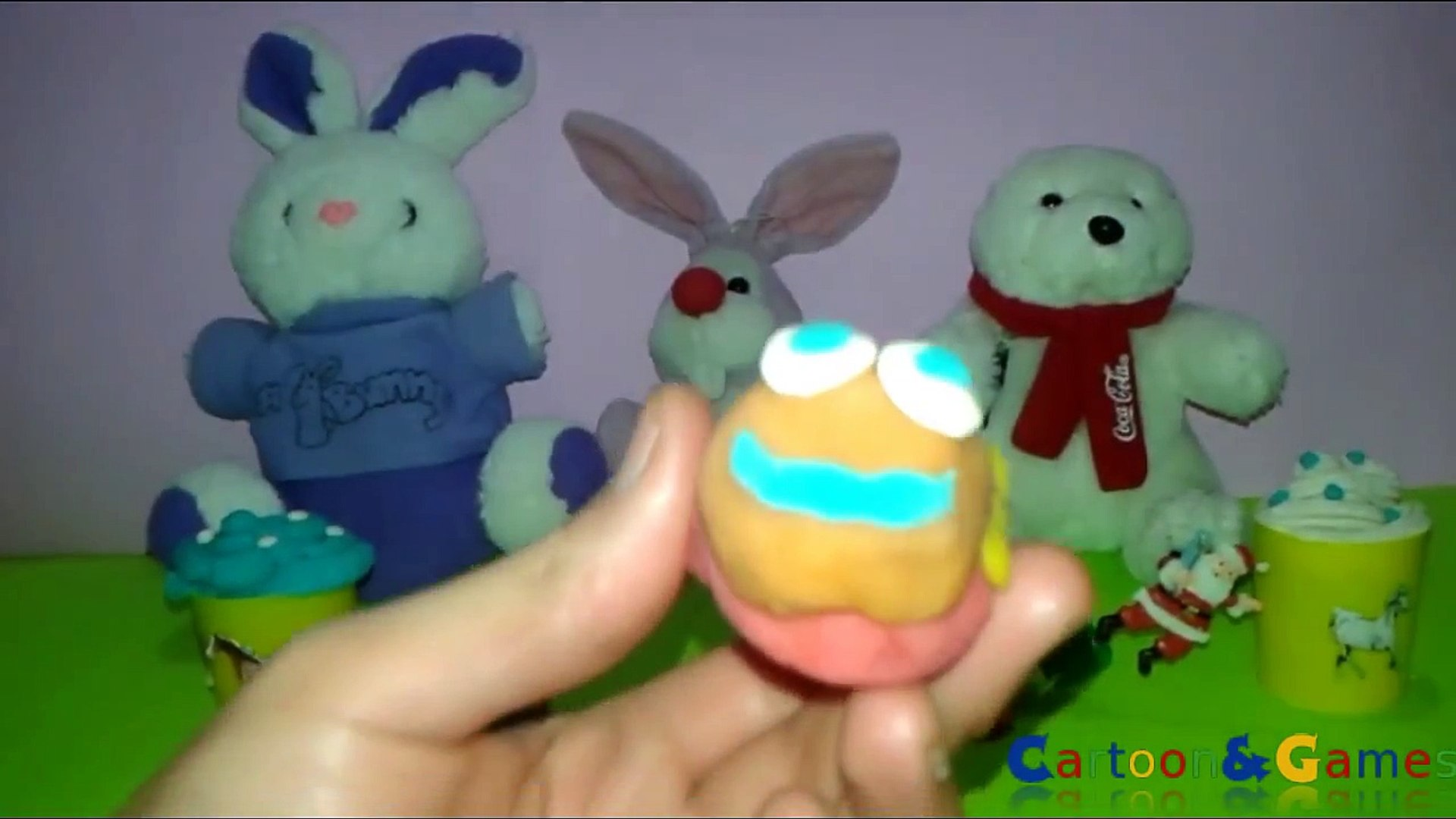 Play Doh Hello Kitty Surprise Eggs Cupcakes Daffy Duck Eggs Toys