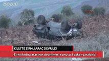Zırhlı Kobra aracı devrildi: 3 asker yaralı