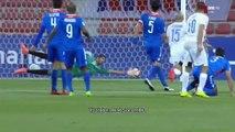 Pleurer joueur marocain Anouar Diba après avoir marqué le but en raison de la maladie de sa fille - Qatar Stars League 2