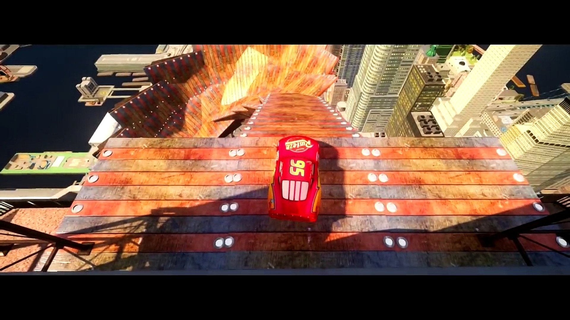 Iron Man riding his Lightning Rayo McQueen Cars HD 1080p Disney Pixar Cars