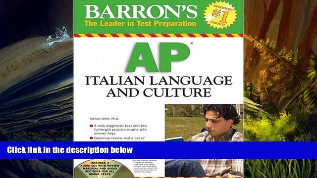 Popular Book  Barron s AP Italian Language and Culture: with Audio CDs  For Kindle