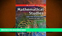 Popular Book  Mathematical Studies for the IB Diploma: Study Guide (International Baccalaureate)