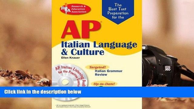 Best Ebook  AP Italian Language and Culture w/ Audio CDs (Advanced Placement (AP) Test