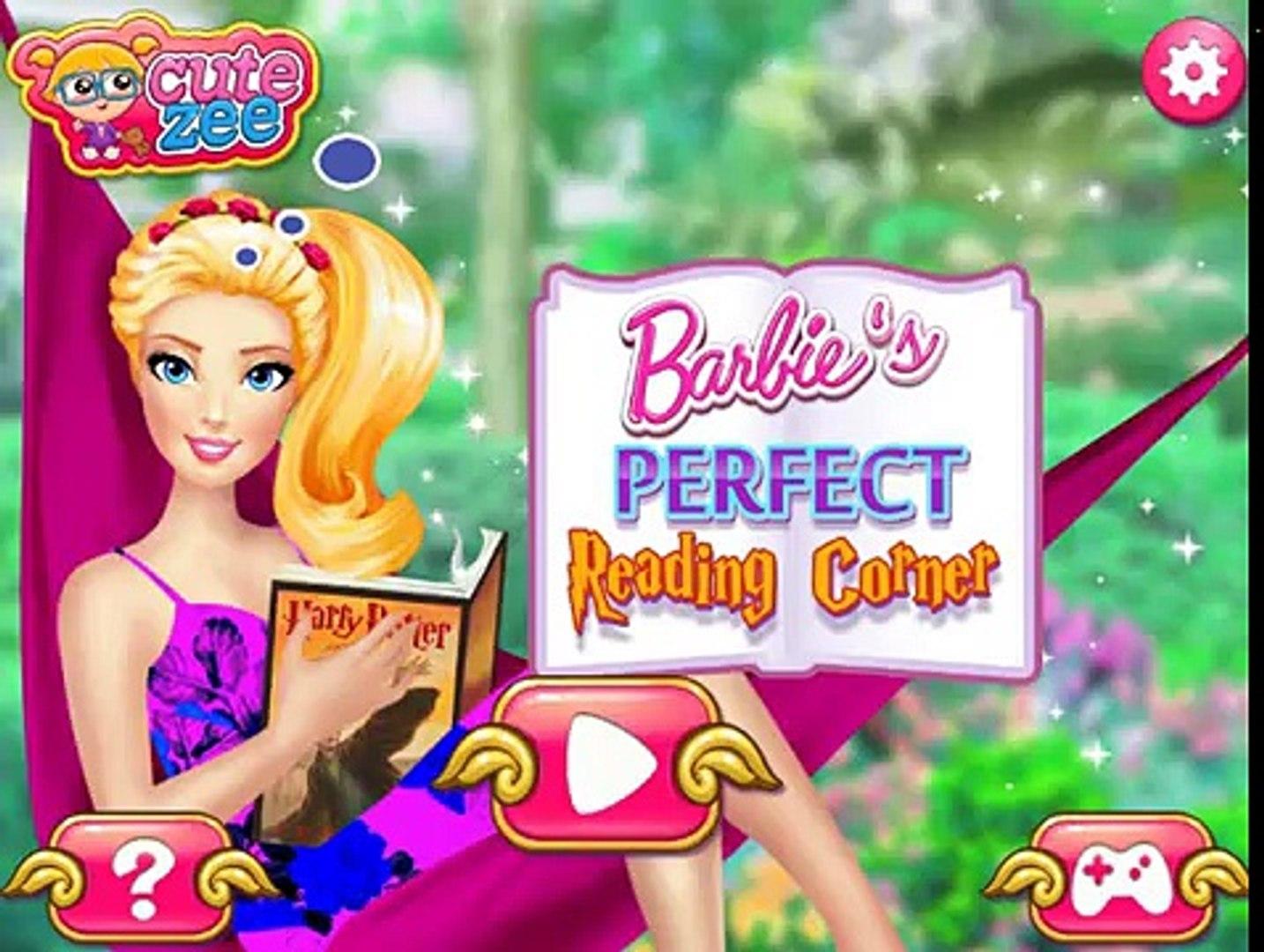 Barbies Perfect Reading Corner: Decorating Games - Barbies Perfect Reading Corner!
